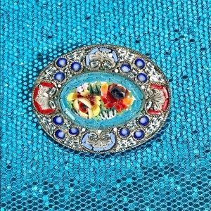 Jewelry - Very Old Large Mosaic Brooch